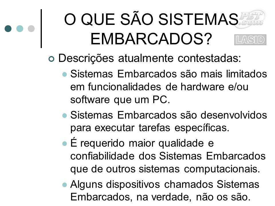 O QUE SÃO SISTEMAS EMBARCADOS.