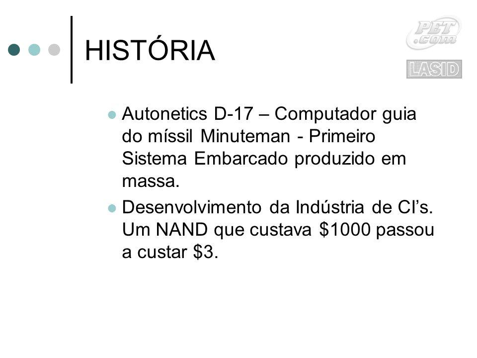 HISTÓRIA Autonetics D-17 – Computador guia do míssil Minuteman - Primeiro Sistema Embarcado produzido em massa.