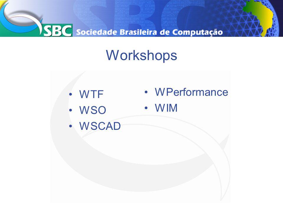 Workshops WTF WSO WSCAD WPerformance WIM