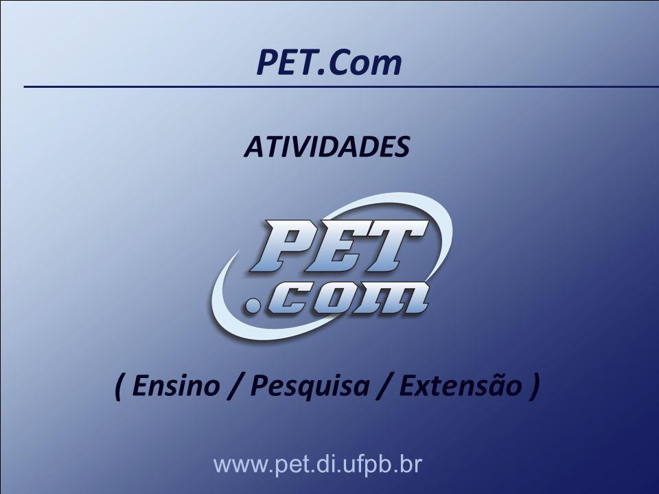 PET.Com ATIVIDADES ( Ensino / Pesquisa / Extensão ) www.pet.di.ufpb.br