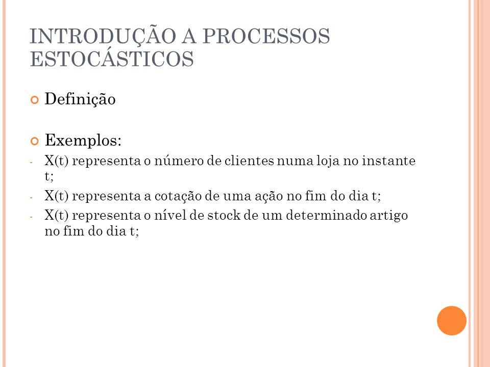 CADEIAS DE MARKOV Definição