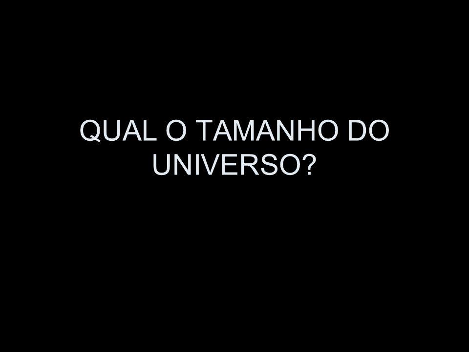 QUAL O TAMANHO DO UNIVERSO?