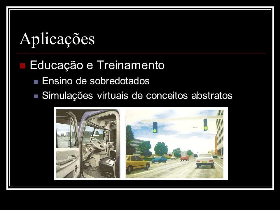 Aplicações Educação e Treinamento Ensino de sobredotados Simulações virtuais de conceitos abstratos