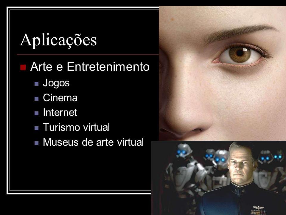 Aplicações Arte e Entretenimento Jogos Cinema Internet Turismo virtual Museus de arte virtual