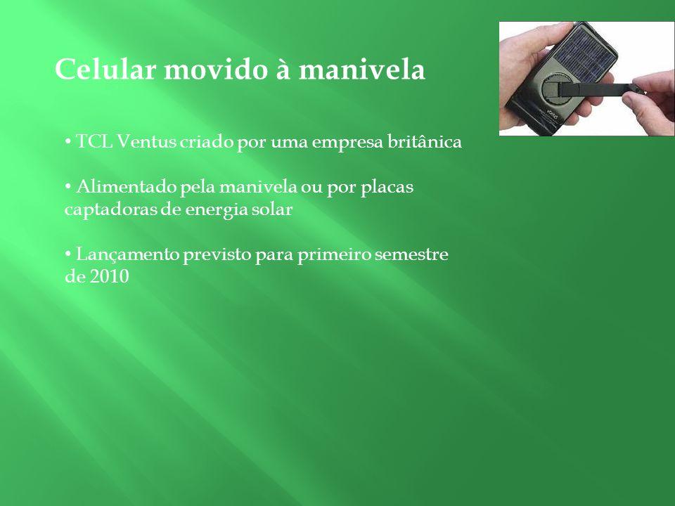 Celular movido à manivela TCL Ventus criado por uma empresa britânica Alimentado pela manivela ou por placas captadoras de energia solar Lançamento pr