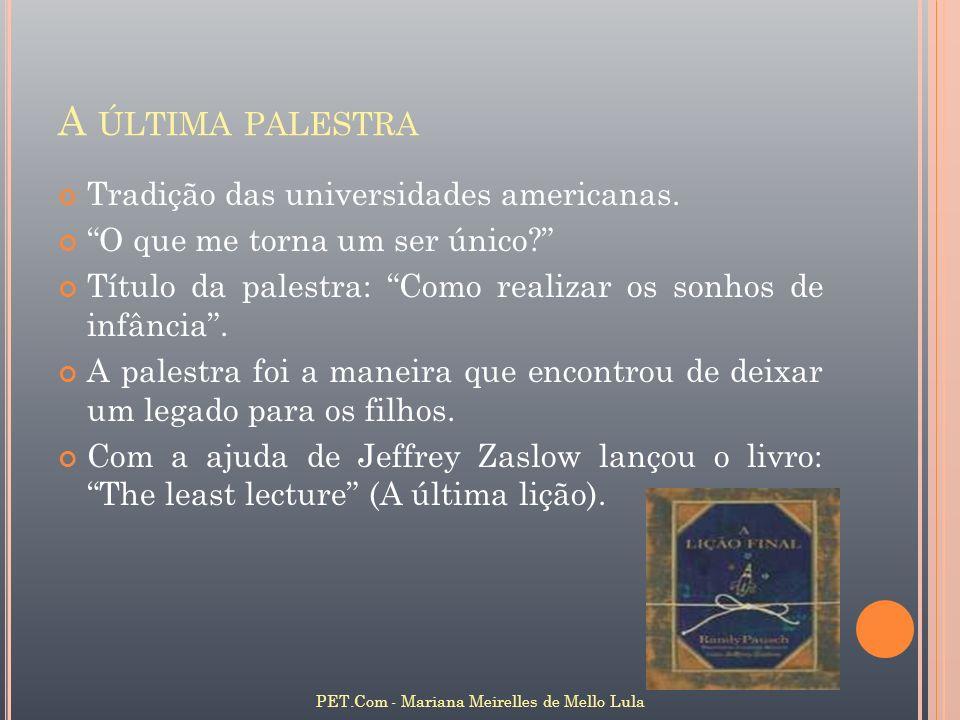 P RIMEIRO D EMO DO A LICE V 3.0 COM O THE S IMS TM PET.Com - Mariana Meirelles de Mello Lula