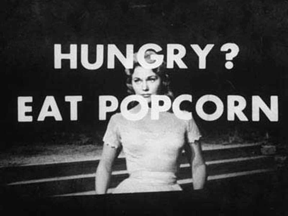 1962 - A fraude de Vicary...nós fomos forçados a divulgar a idéia (da subliminaridade) antes que estivéssemos realmente prontos...