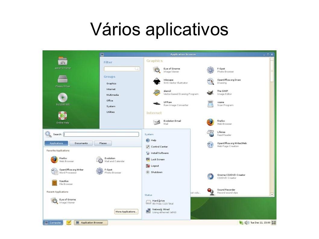 Vários aplicativos