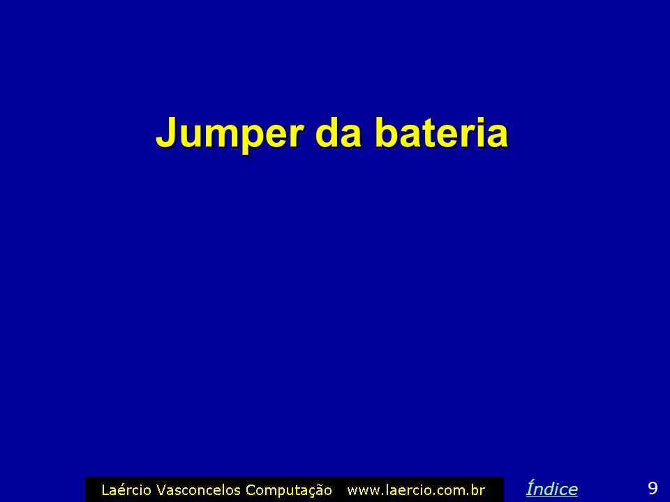 Jumper da bateria 9 Índice