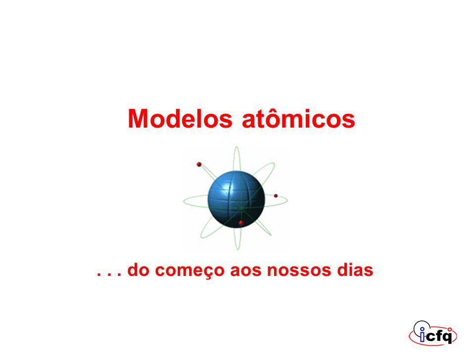 Modelos atômicos... do começo aos nossos dias