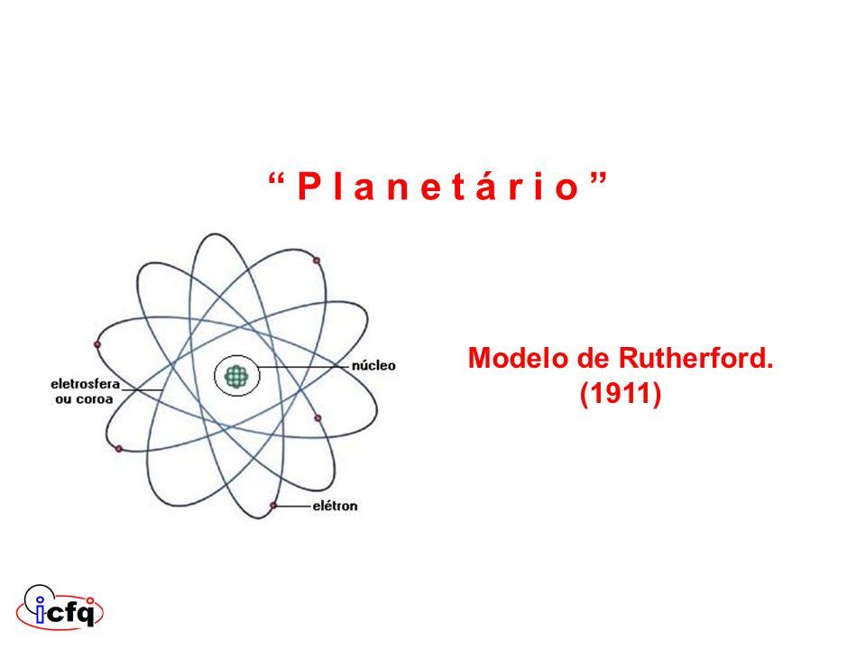 Modelo de Rutherford. (1911) P l a n e t á r i o