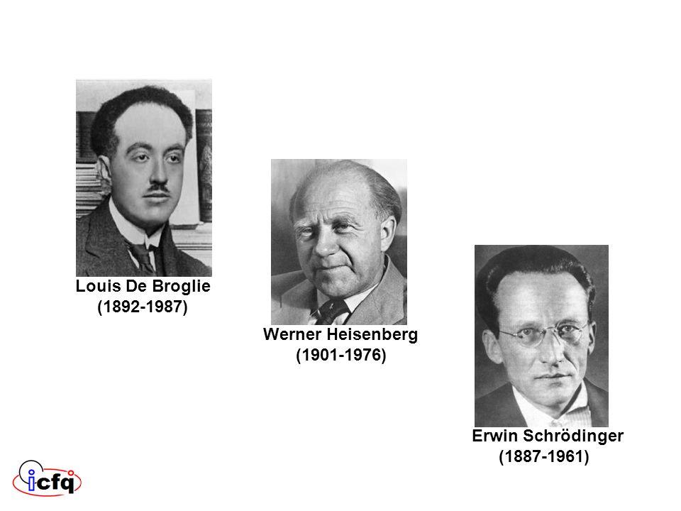 Louis De Broglie (1892-1987) Werner Heisenberg (1901-1976) Erwin Schrödinger (1887-1961)