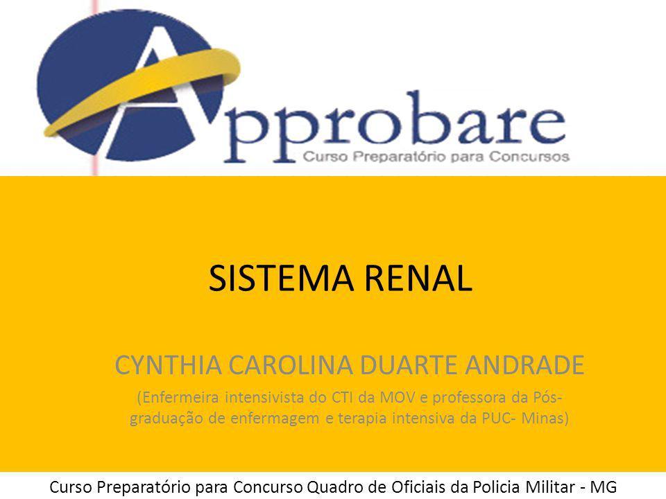 SISTEMA RENAL CYNTHIA CAROLINA DUARTE ANDRADE (Enfermeira intensivista do CTI da MOV e professora da Pós- graduação de enfermagem e terapia intensiva