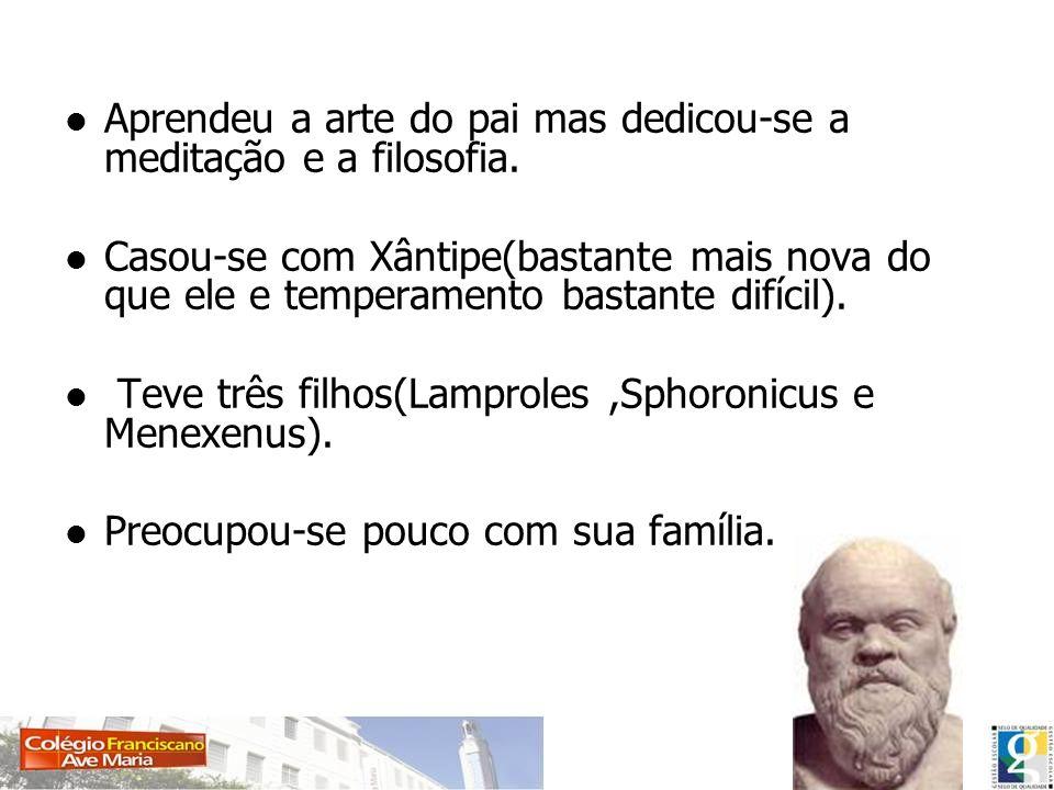 Para Sócrates: Ciência = Virtude = Para ele fazendo-se o bem encontra-se a felicidade.