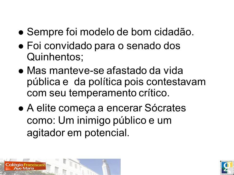 Postura de Sócrates Que a mente do homem era algo de maior importância, para se estudar.