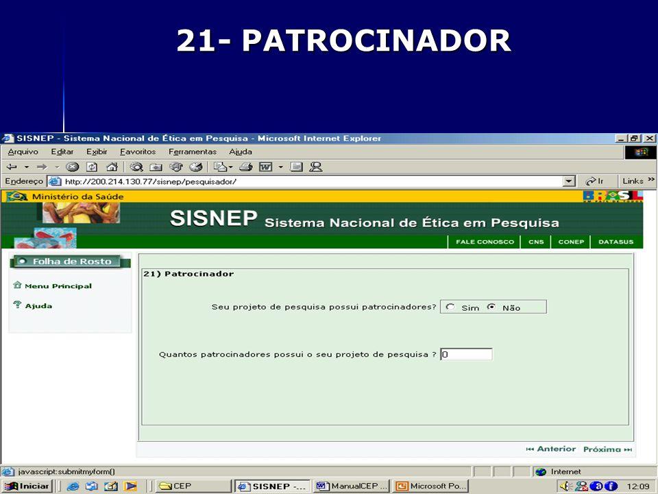 21- PATROCINADOR