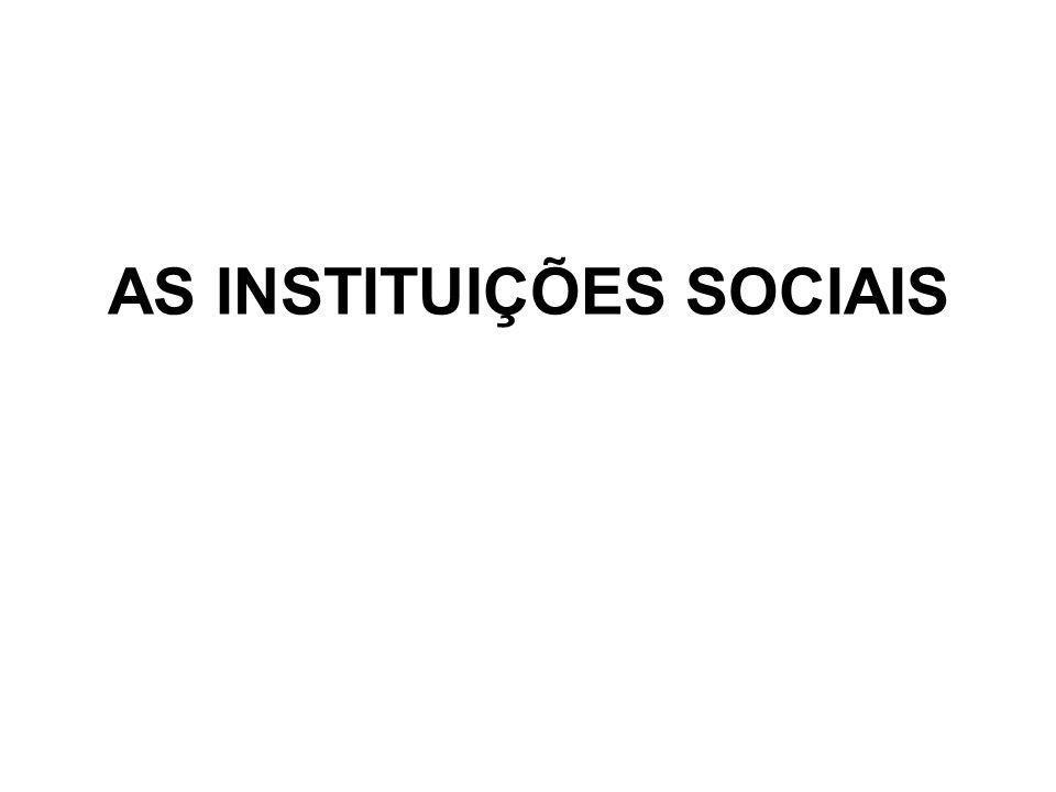 Instituição é toda forma ou estrutura social estabelecida, constituída, sedimentada na sociedade e com caráter normativo – ou seja, ela define regras e exerce formas de controle social.