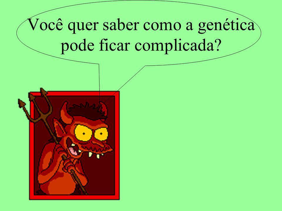 Você quer saber como a genética pode ficar complicada?