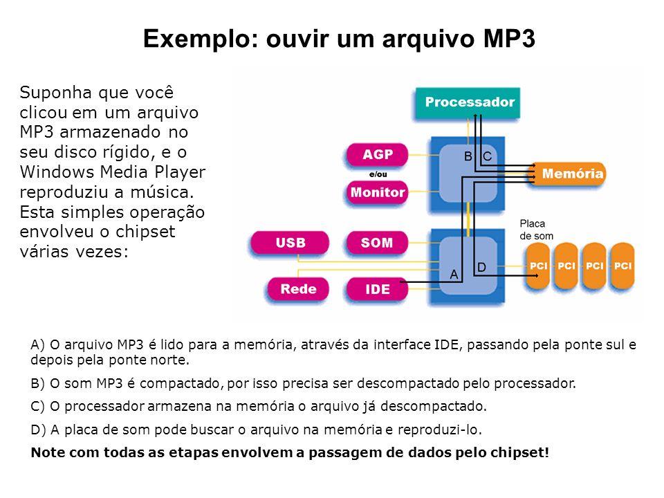 Exemplo: ouvir um arquivo MP3 Suponha que você clicou em um arquivo MP3 armazenado no seu disco rígido, e o Windows Media Player reproduziu a música.