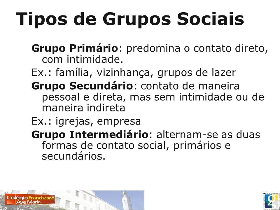AGREGADOS SOCIAIS Reunião de pessoas com fraco sentimento grupal, mas mesmo assim,mantém entre si um mínimo de comunicação e de relações sociais.