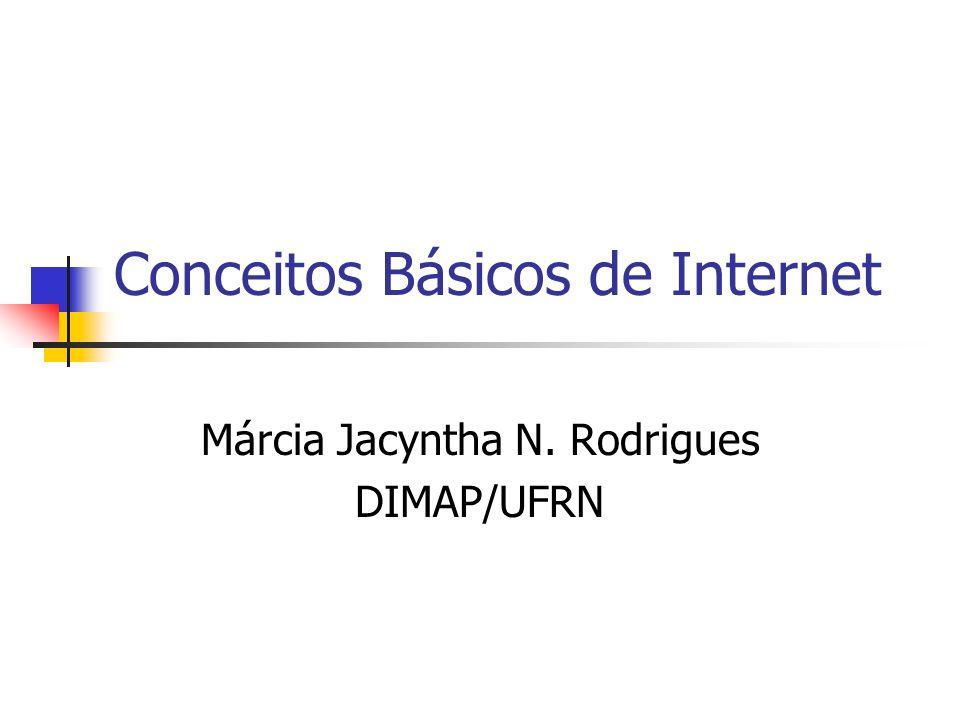 Conceitos Básicos de Internet Márcia Jacyntha N. Rodrigues DIMAP/UFRN