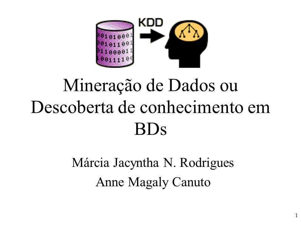 2 Indice Introdução Definição Processo de Mineração –Identificação do Problema, Pré-processamento, Extração de padrões, Pós-processamento Tecnologias de Suporte Perspectivas Futuras