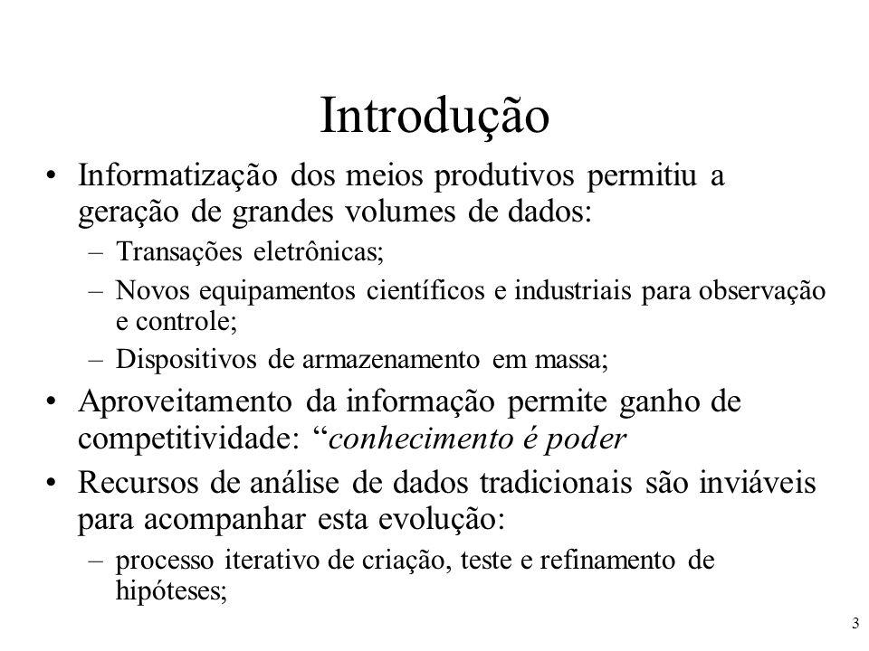 14 Pós-Processamento O conhecimento extraído representa o conhecimento do especialista.