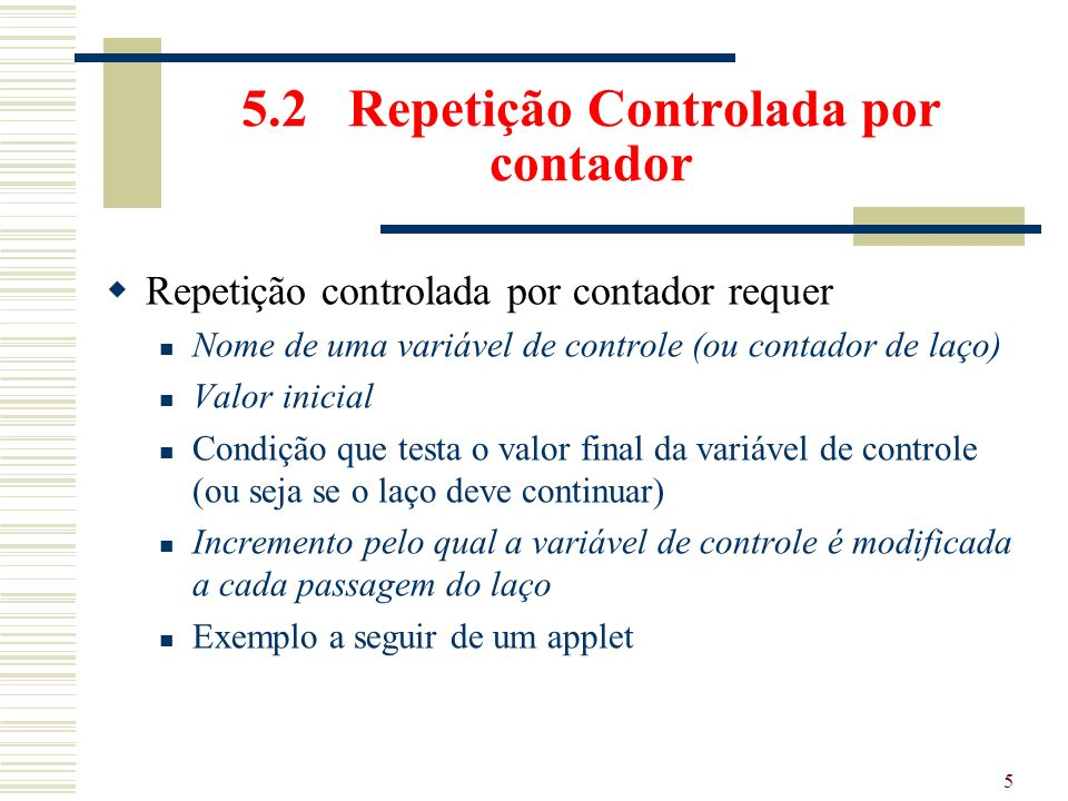 55 Do-While While do instrução while (condição) instrução; while (condição) { instrução} int i = 0; do { System.out.println(i); i++; } while (i < 100) int i = 0; System.out.println(i); while (i < 100) { System.out.println(i); i++; }