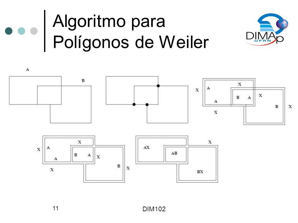 DIM102 11 Algoritmo para Polígonos de Weiler
