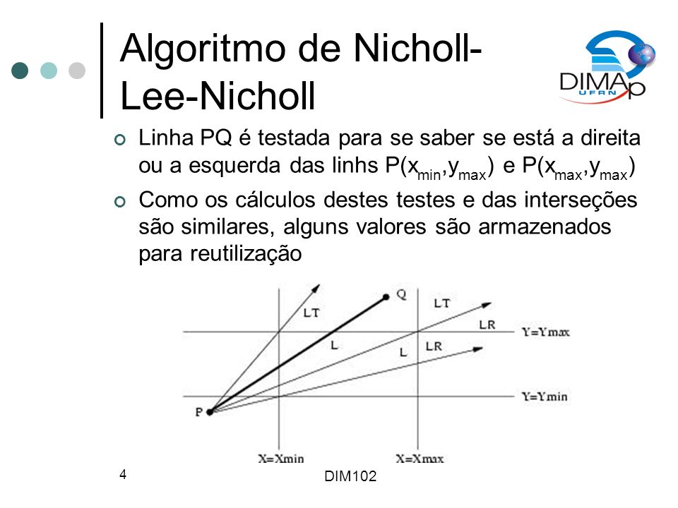 DIM102 15 Algoritmo para Polígonos de Weiler Árvore utilizada para descrever relacionamento entre os contornos Resultado é obtido selecionando-se a sub-árvore que contém os contornos que pertencem a A e B