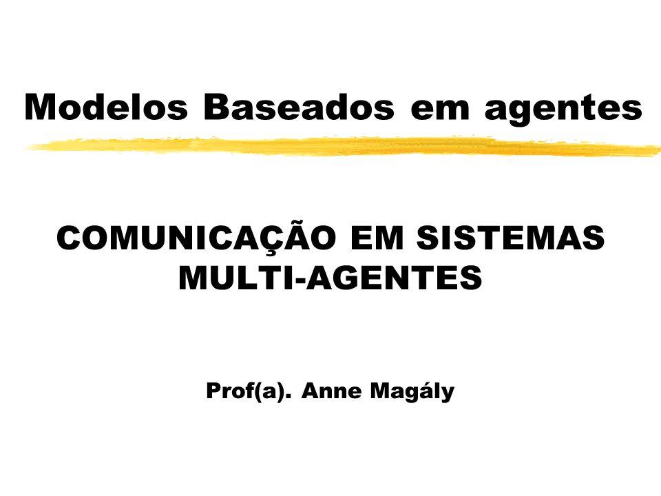 Modelos Baseados em agentes COMUNICAÇÃO EM SISTEMAS MULTI-AGENTES Prof(a). Anne Magály