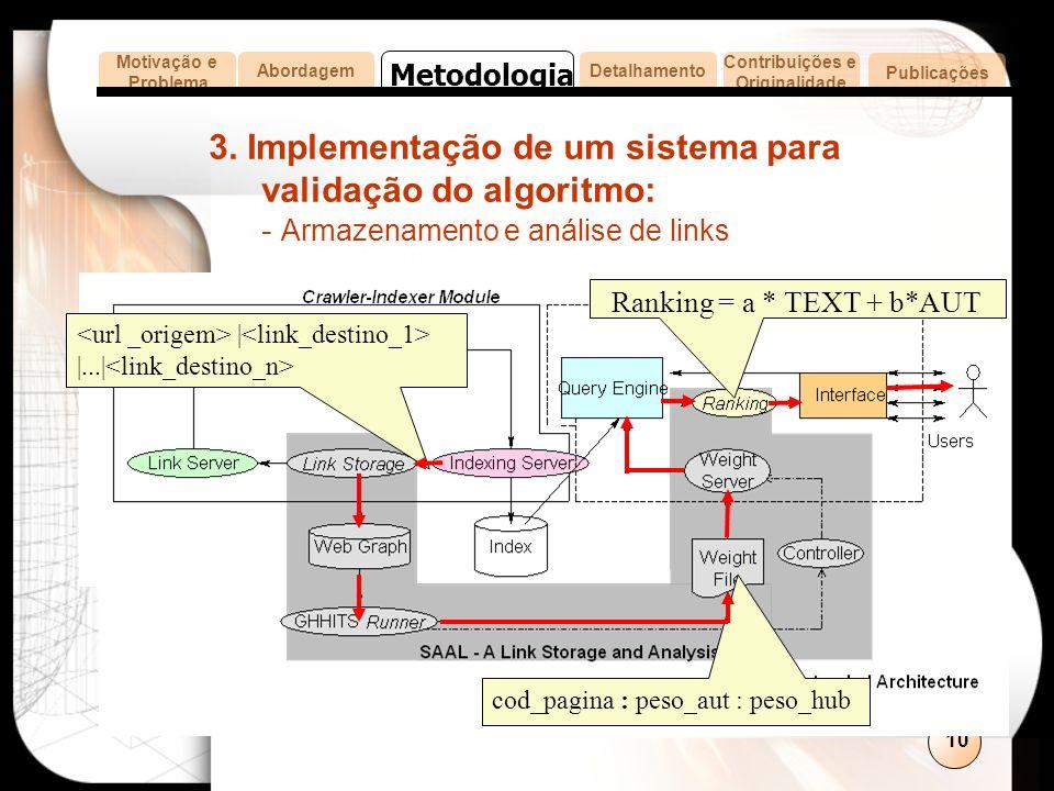 10 cod_pagina : peso_aut : peso_hub | |...| 3.