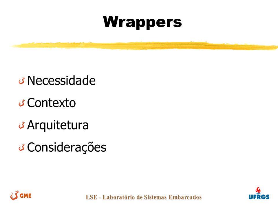 LSE - Laboratório de Sistemas Embarcados Wrappers Necessidade Contexto Arquitetura Considerações