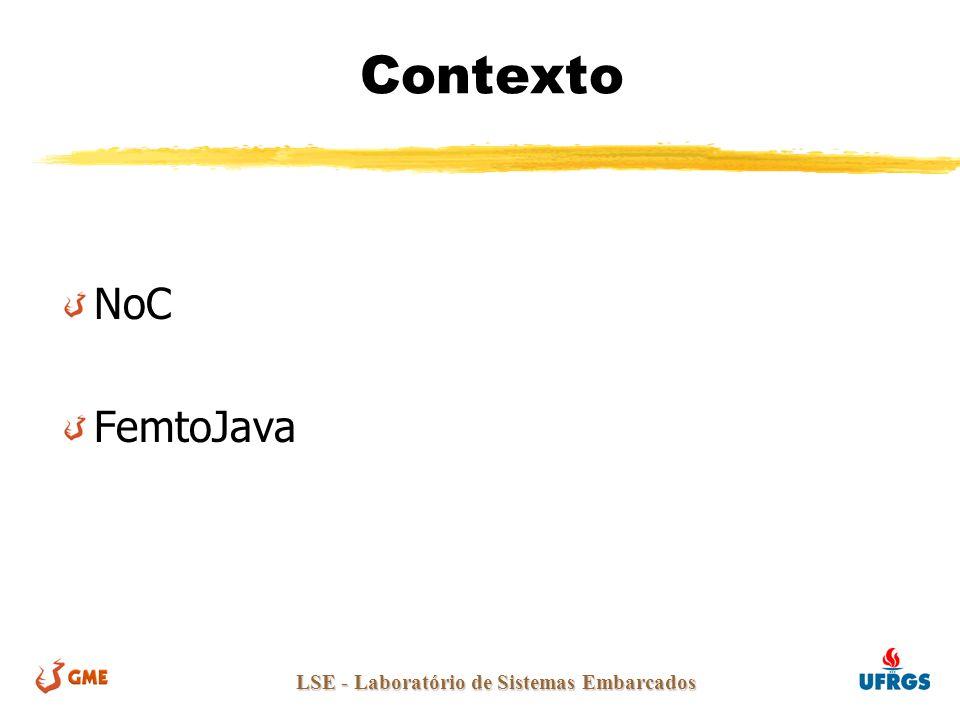 LSE - Laboratório de Sistemas Embarcados Contexto NoC FemtoJava