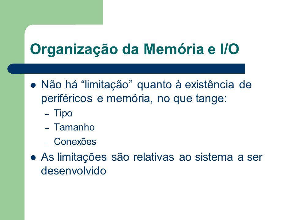 Não há limitação quanto à existência de periféricos e memória, no que tange: – Tipo – Tamanho – Conexões As limitações são relativas ao sistema a ser