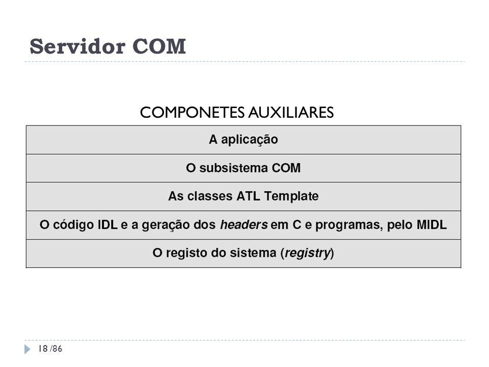Servidor COM COMPONETES AUXILIARES 18 18 /86