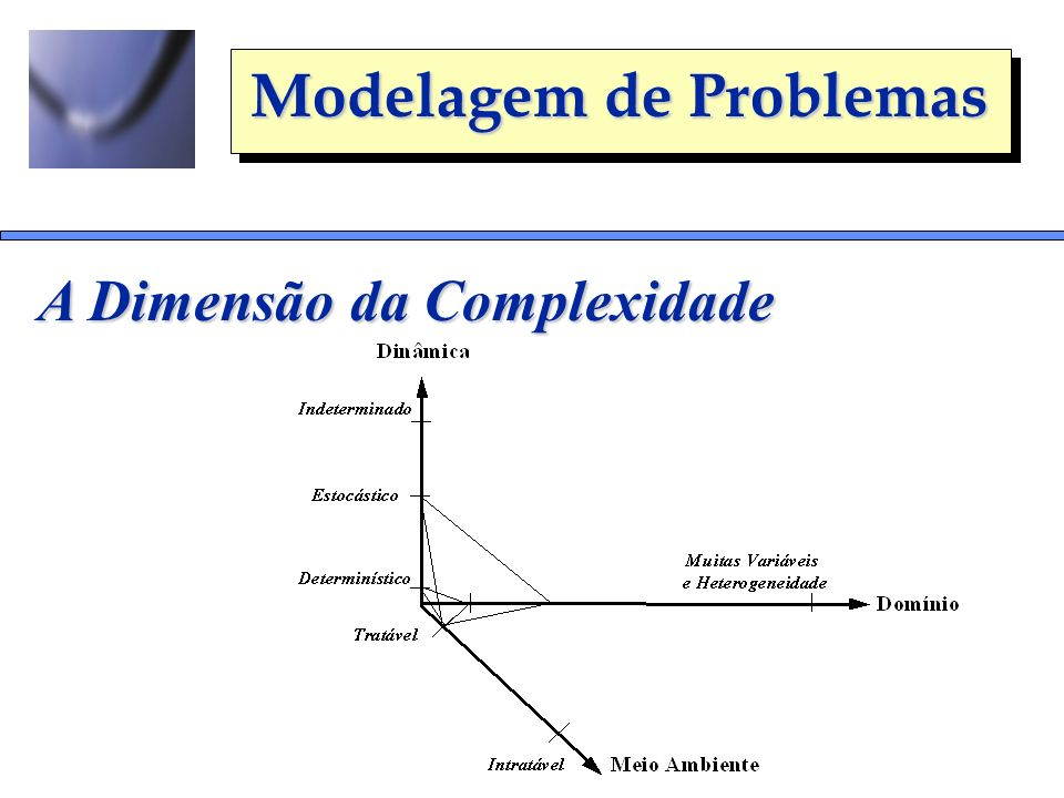 Modelagem de Problemas A Dimensão da Complexidade