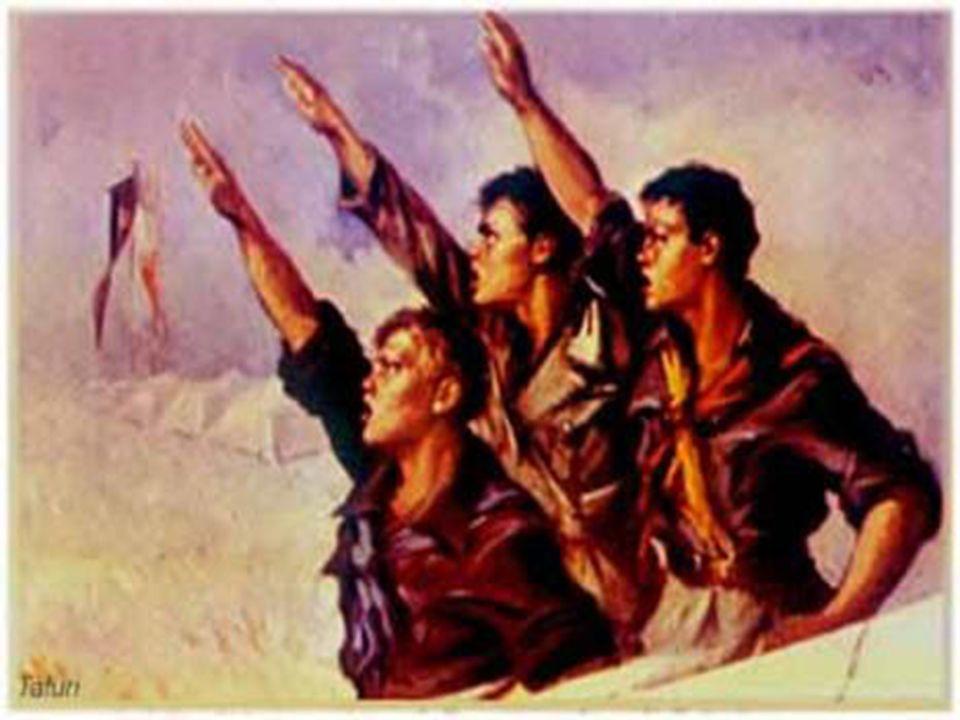 Fascismo Italiano -vitória mutilada na 1ª guerra -Monarquia parlamentar, enfrentava séria crise econômica -Crescimento do partido socialista 1919 - Fascio de Combate (camisas negras) 1921 – fundado o Partido Nacional Fascista 1922 – 50 mil = Marcha sobre Roma, exigindo Mussolini no poder