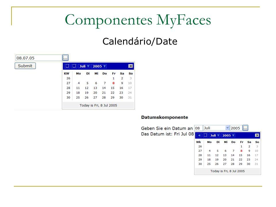 Componentes MyFaces Calendário/Date