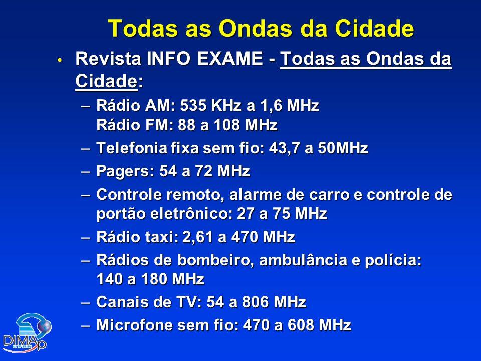 Todas as Ondas da Cidade Revista INFO EXAME - Todas as Ondas da Cidade: Revista INFO EXAME - Todas as Ondas da Cidade: –Rádio AM: 535 KHz a 1,6 MHz Rá