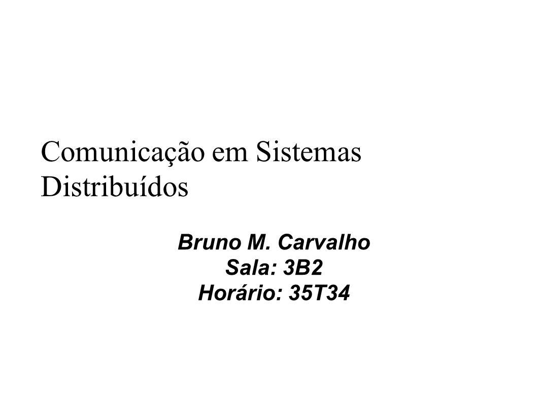 Comunicação em Sistemas Distribuídos Bruno M. Carvalho Sala: 3B2 Horário: 35T34