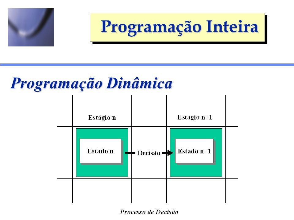 Programação Inteira Programação Dinâmica