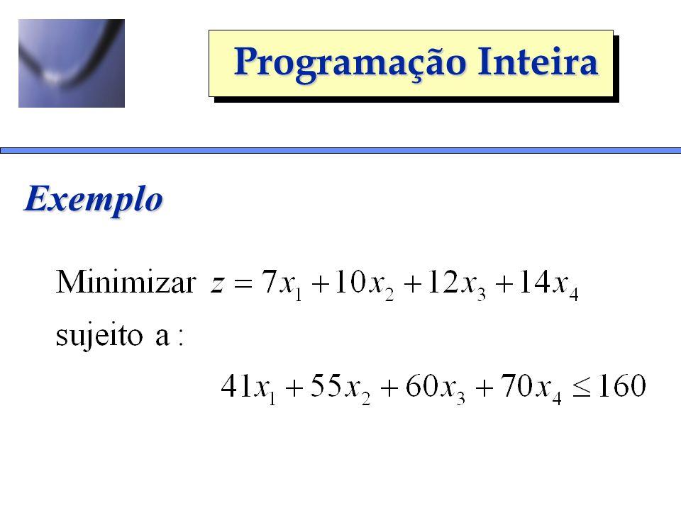 Programação Inteira Exemplo