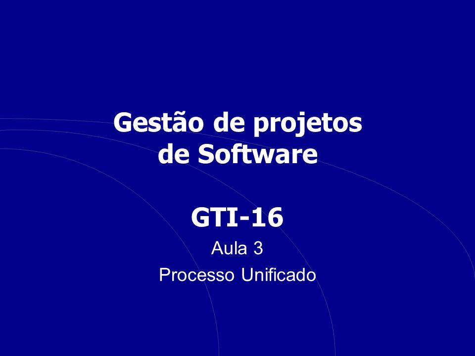 Gestão de projetos de Software GTI-16 Aula 3 Processo Unificado