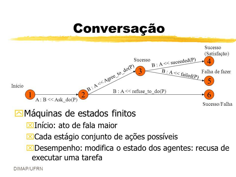 DIMAP/UFRN Conversação zSucesso e Satisfação yDeclaração: sucesso ou falha.