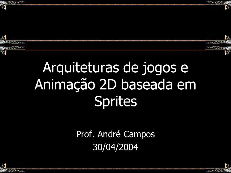 Arquiteturas de jogos e Animação 2D baseada em Sprites Prof. André Campos 30/04/2004