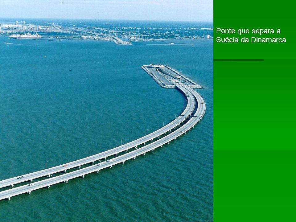 Ponte que separa a Suécia da Dinamarca
