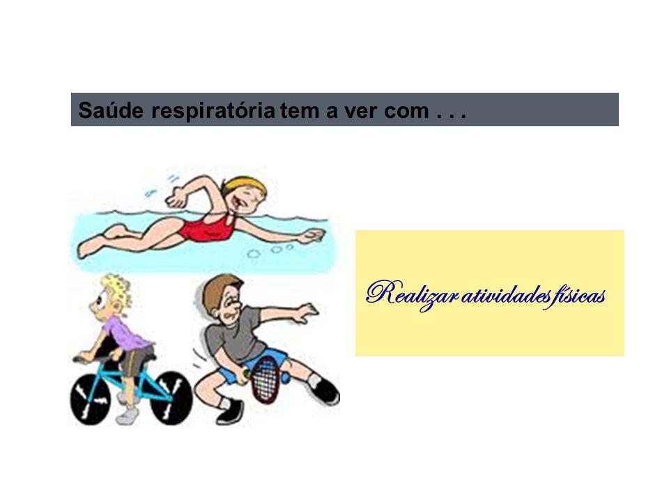 Realizar atividades físicas Saúde respiratória tem a ver com...