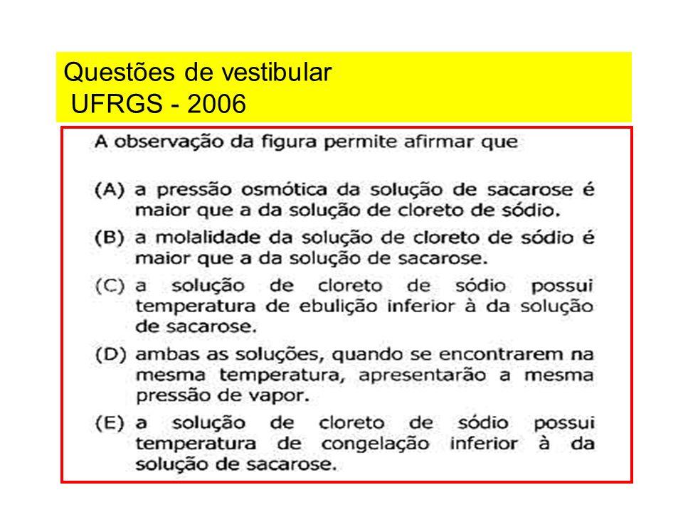 Questões de vestibular UFRGS - 2006