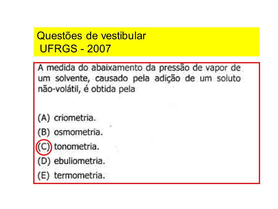 Questões de vestibular UFRGS - 2007